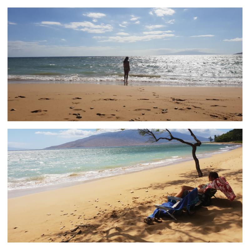 Geel strand