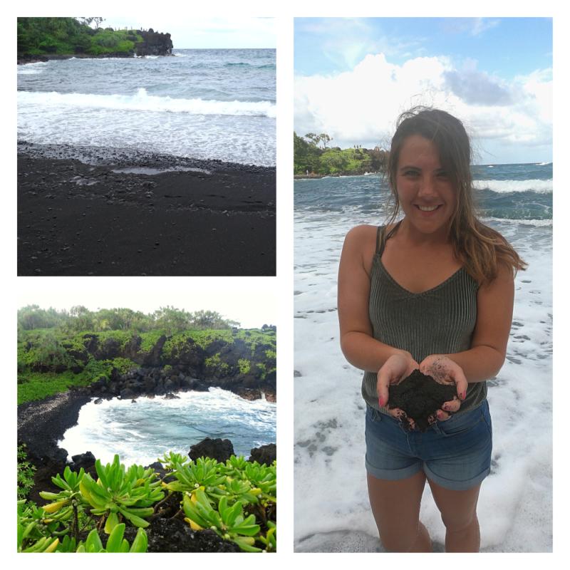 Black Sand Beach tijdens Road to Hana