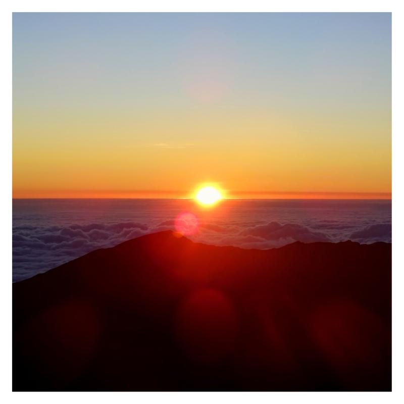 Zonsopgang Haleakala Crater